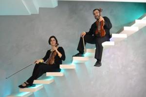 due violini in blu